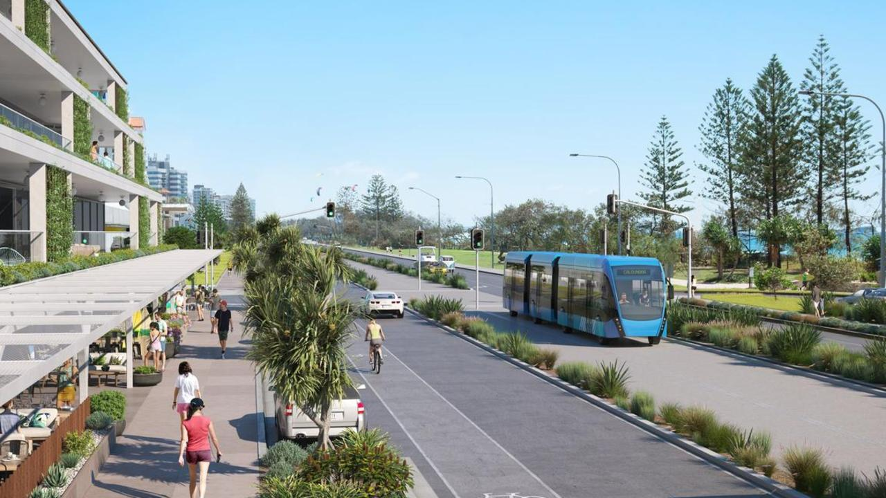 One of the concept designs of transport options for the Sunshine Coast Mass Transit Plan.