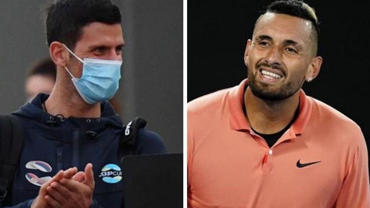 Nick Kyrgios landed another blow in his bitter feud with Novak Djokovic days after slamming the Serbian for his hotel quarantine demands.