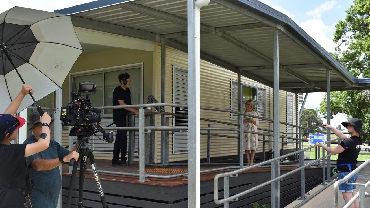 Short film 'Seven Times' being shot at a local school in the Lockyer Valley. Photo: Hugh Suffell.