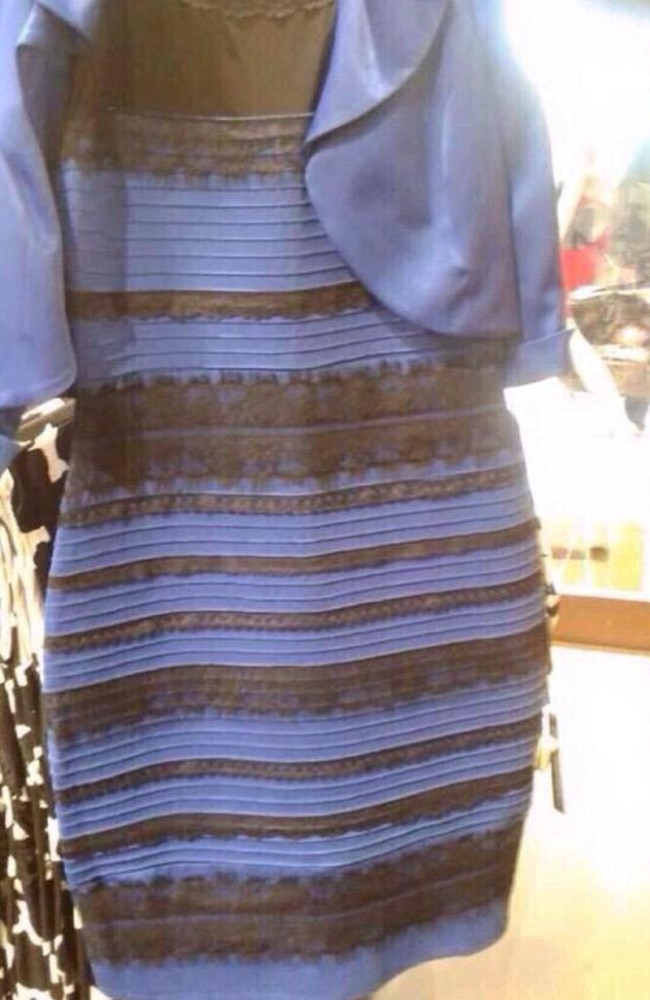 The original dress that broke the internet over its colour (it still looks white and gold to me, even though I know it's not). Picture: Twitter
