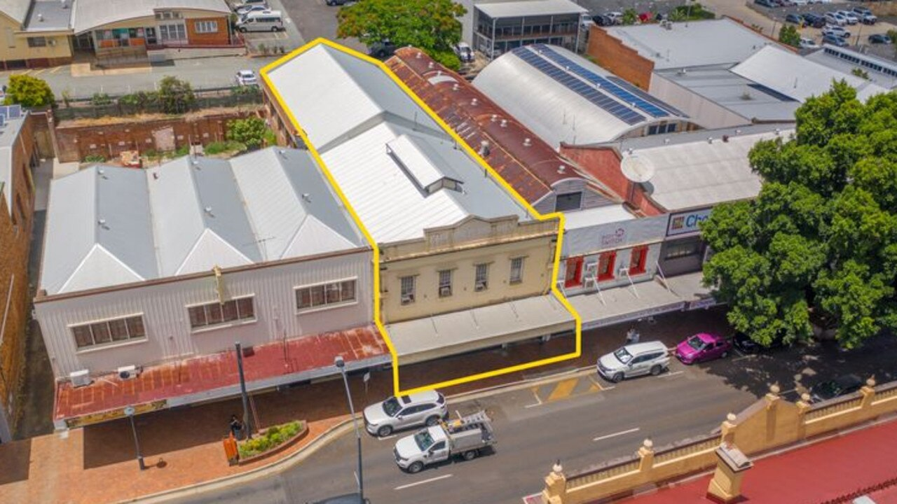 150 Brisbane St, Ipswich is for sale and offers two potential tenancies to buyers.