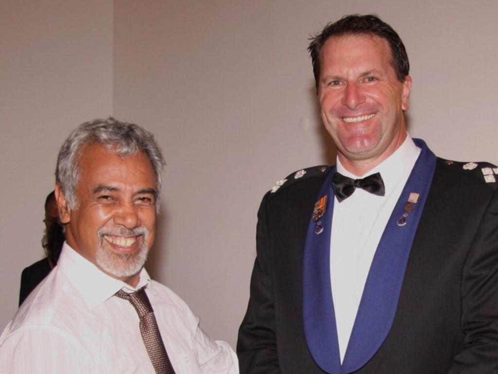 Grant Edwards and former Timor Leste Prime Minister Xanana Gusmao.