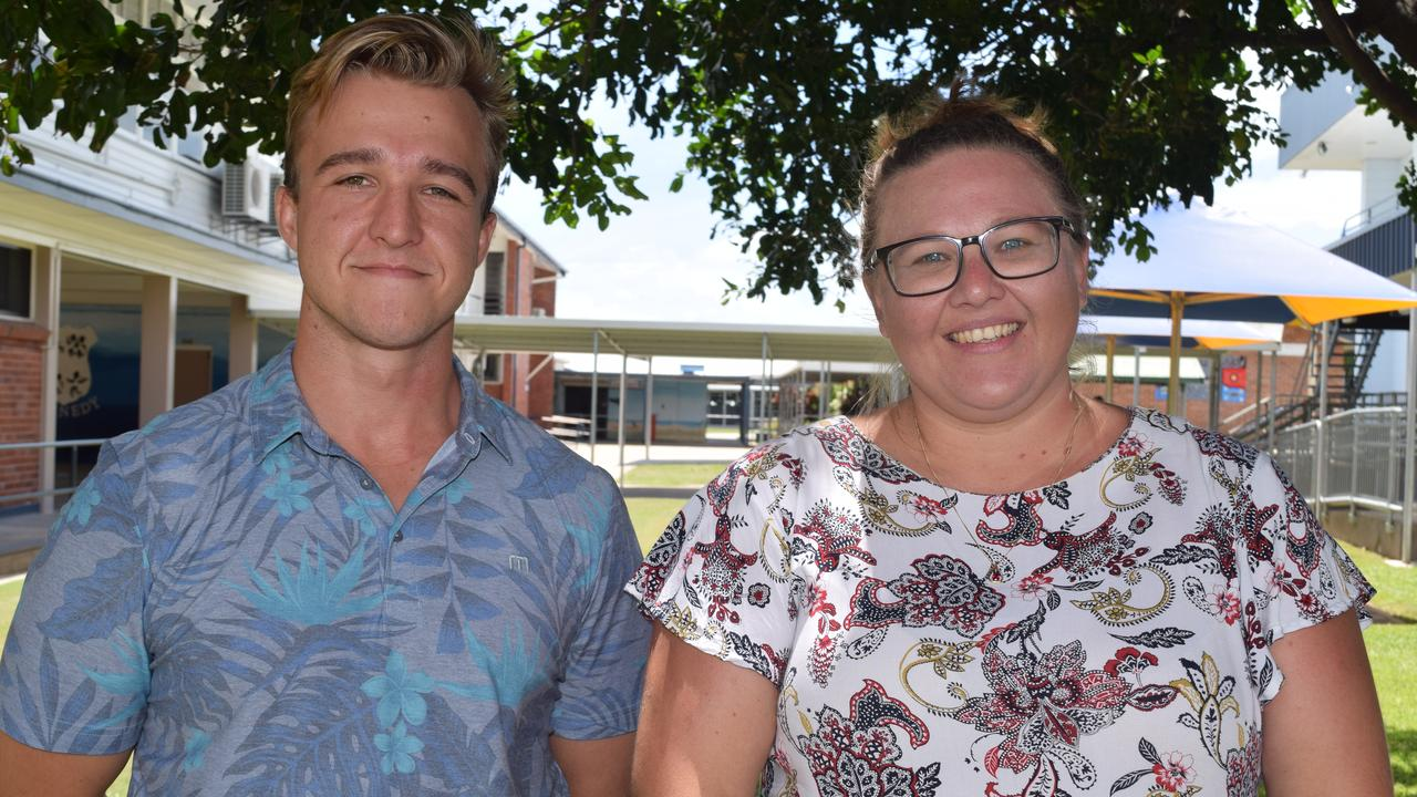 New Bowen State High School teachers Matt O'Keefe and Rachel Cooper are looking forward to getting to know students. Photo: Elyse Wurm