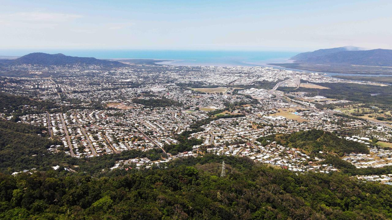 Aerial panoramic view of Cairns city and the inner suburbs. Picture: Brendan Radke