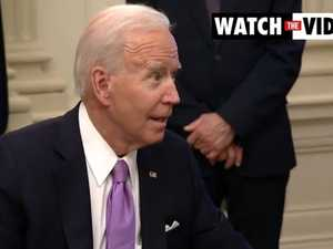 "Biden snaps at reporter: ""Give me a break"""