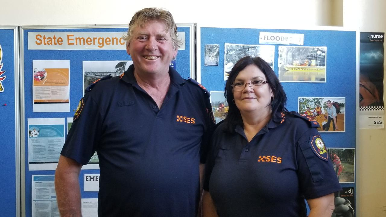 SES members Darrin Swadling and Cheryl Baartz.