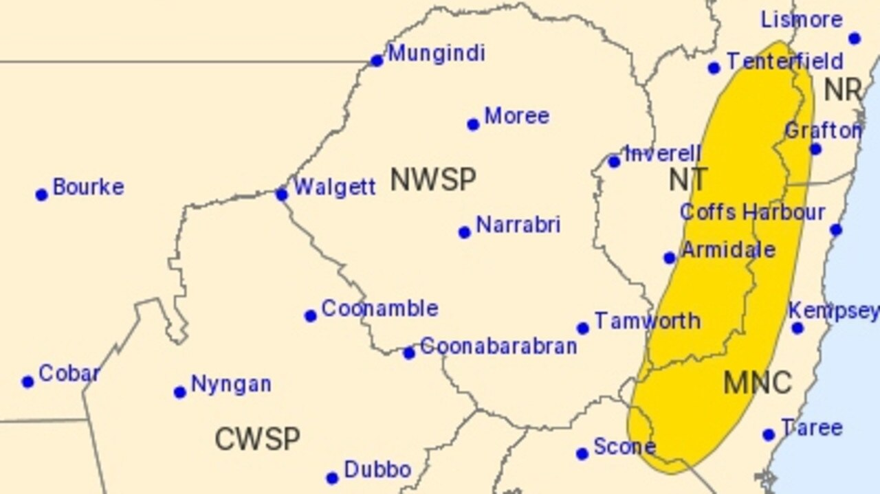 SEVERE WEATHER WARNING: On Friday January 22, 2021, the BOM issued a severe weather warning of heavy rain, hail and thunderstorms of part of the Northern Rivers.