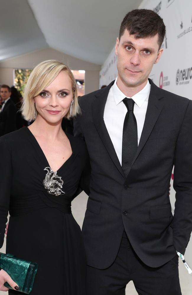 Christina Ricci and James Heerdegen announced their split last year. Picture: Rich Fury/Getty Images for EJAF