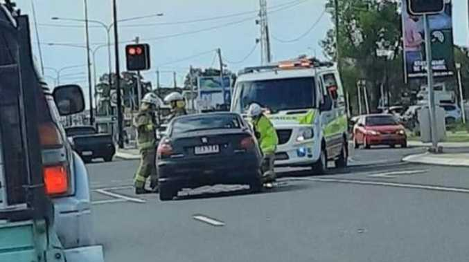 Paramedics rush to two vehicle crash in Dalby
