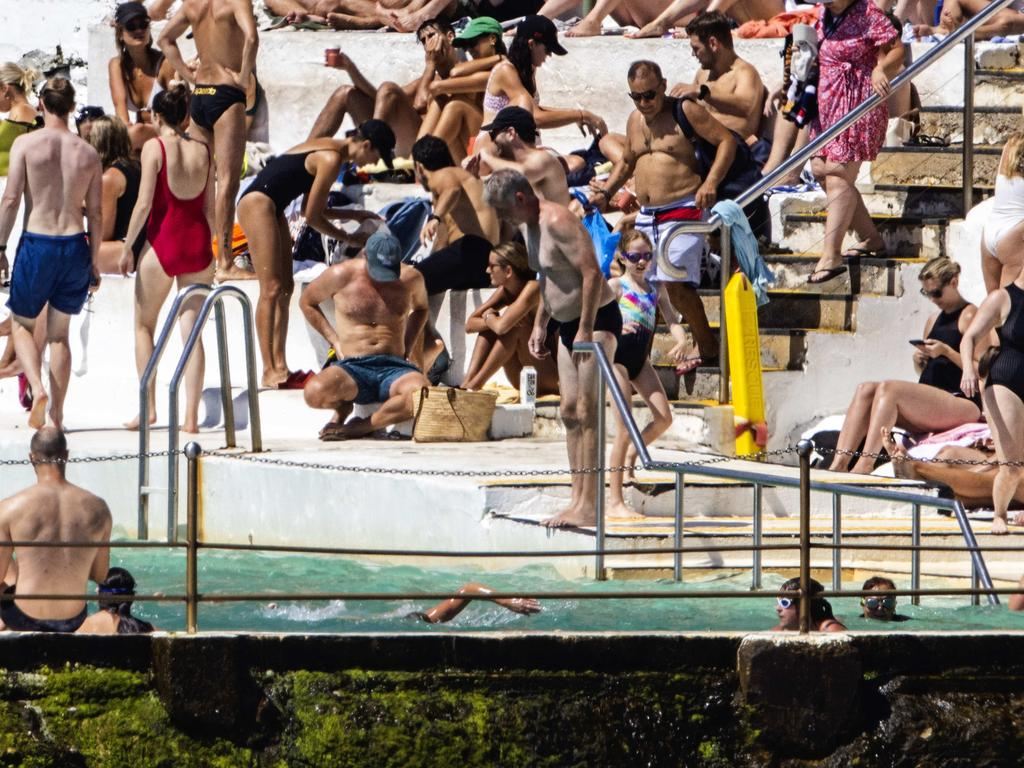 Bondi Icebergs was a popular spot on Saturday morning. Picture: NCA NewsWire / Jenny Evans