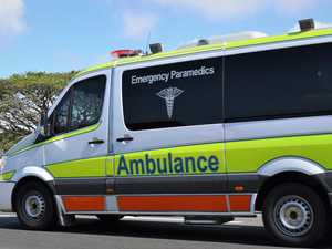 Rider taken to hospital with chest injuries