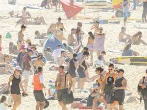 Huge crowds hit beaches amid heatwave