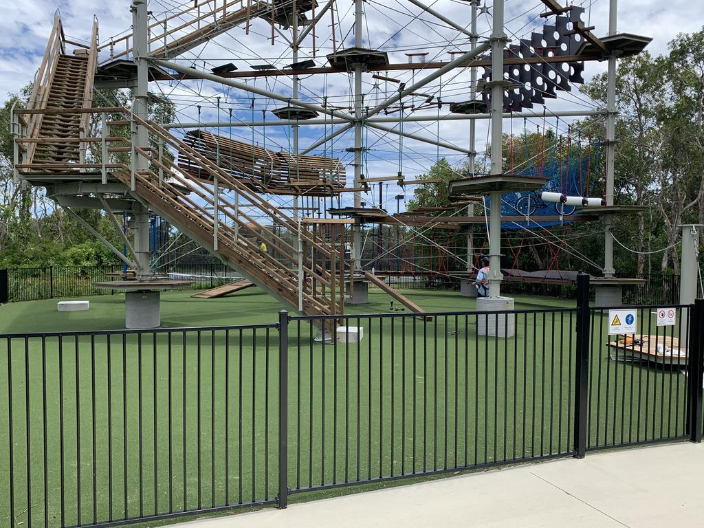 The Sunshine Coast Recreation Centre's new high ropes park.