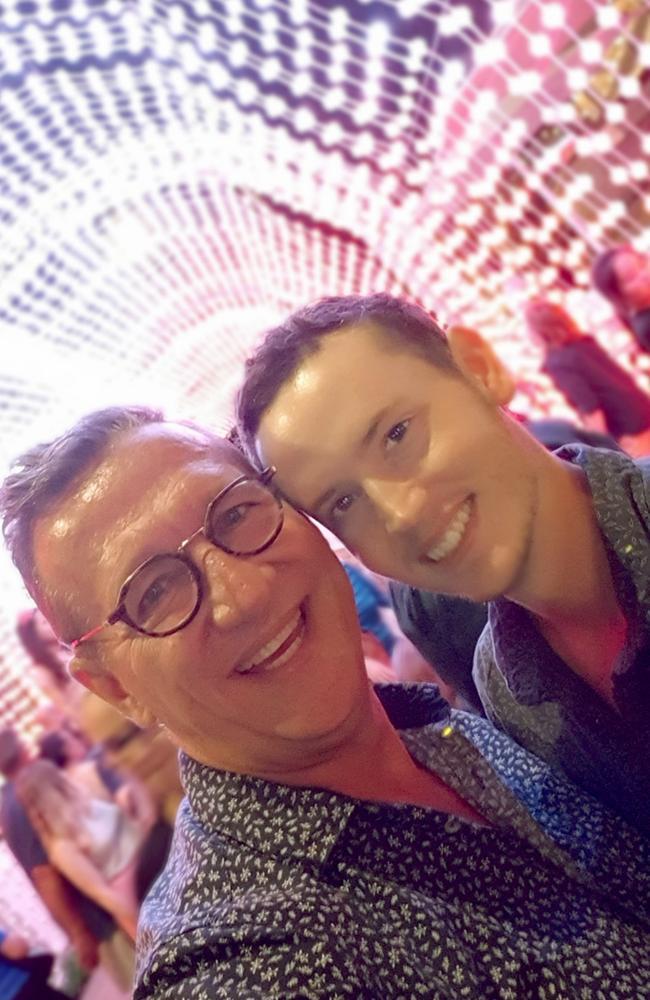 David Gibson with his partner Tarmon Smith.