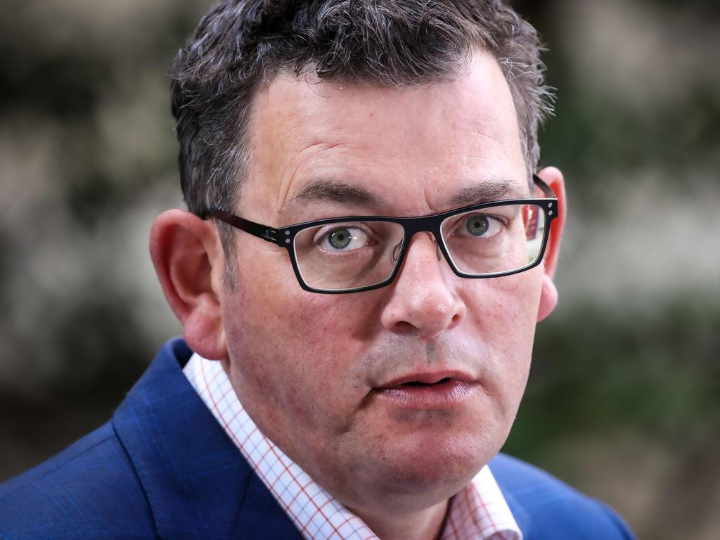 Victorian Premier Daniel Andrews press conference.