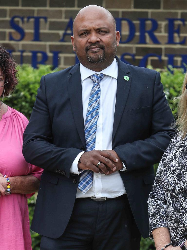 NSW Teachers Federation Deputy President Henry Rajendra. Picture: AAP IMAGE/Carmela Roche