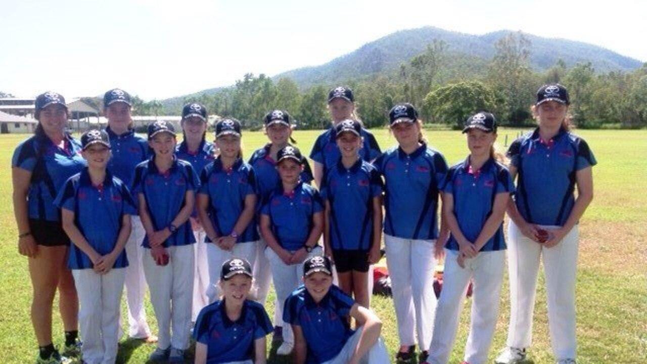 Mackay Hurricanes team after winning the inaugural Jesse Jonassen Trophy last year.