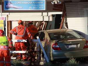 Car ploughs into medical shopfront