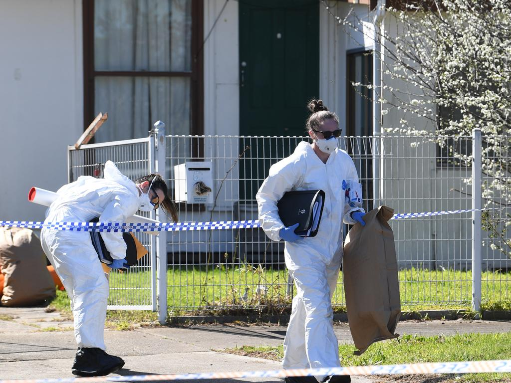 Investigators at the property in 2019. Photo: AAP/Julian Smith