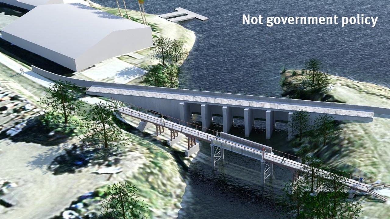 FLOODGATES: Illustration of the possible Bundaberg East Levee.