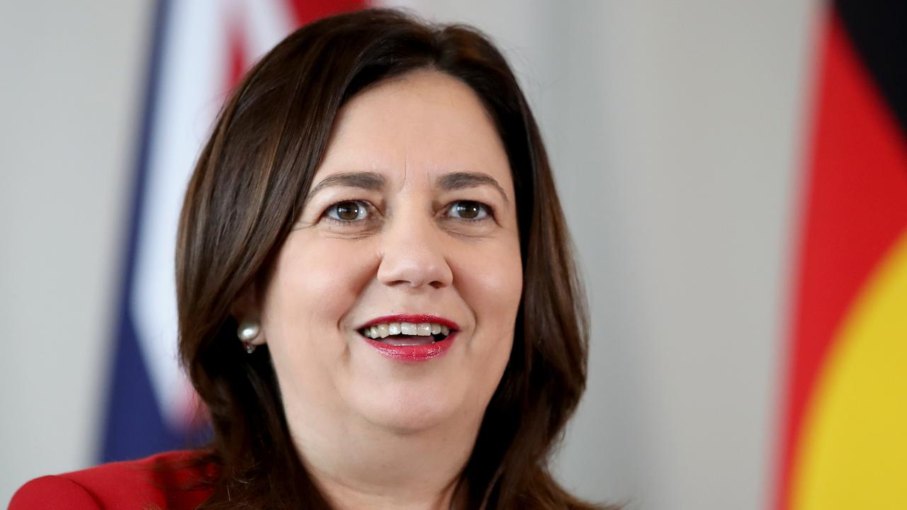 Premier Annastacia Palaszczuk believes the three people depicted are Queenslanders. Picture: NCA NewsWire / Jono Searle