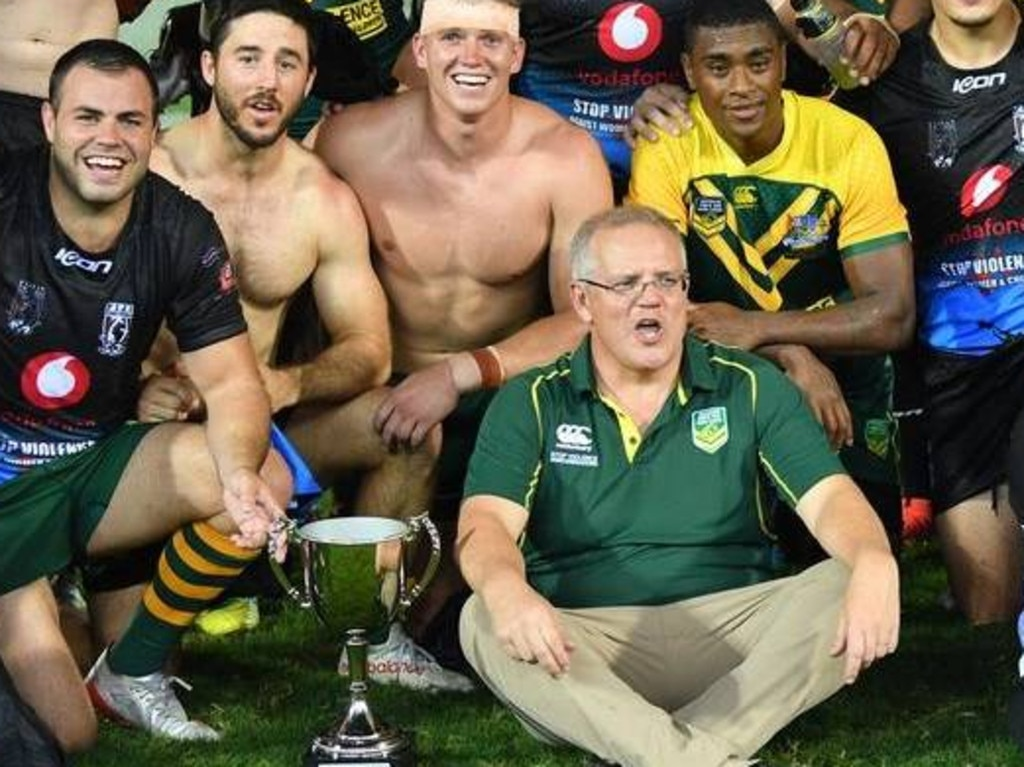 Scott Morrison loves his rugby league.