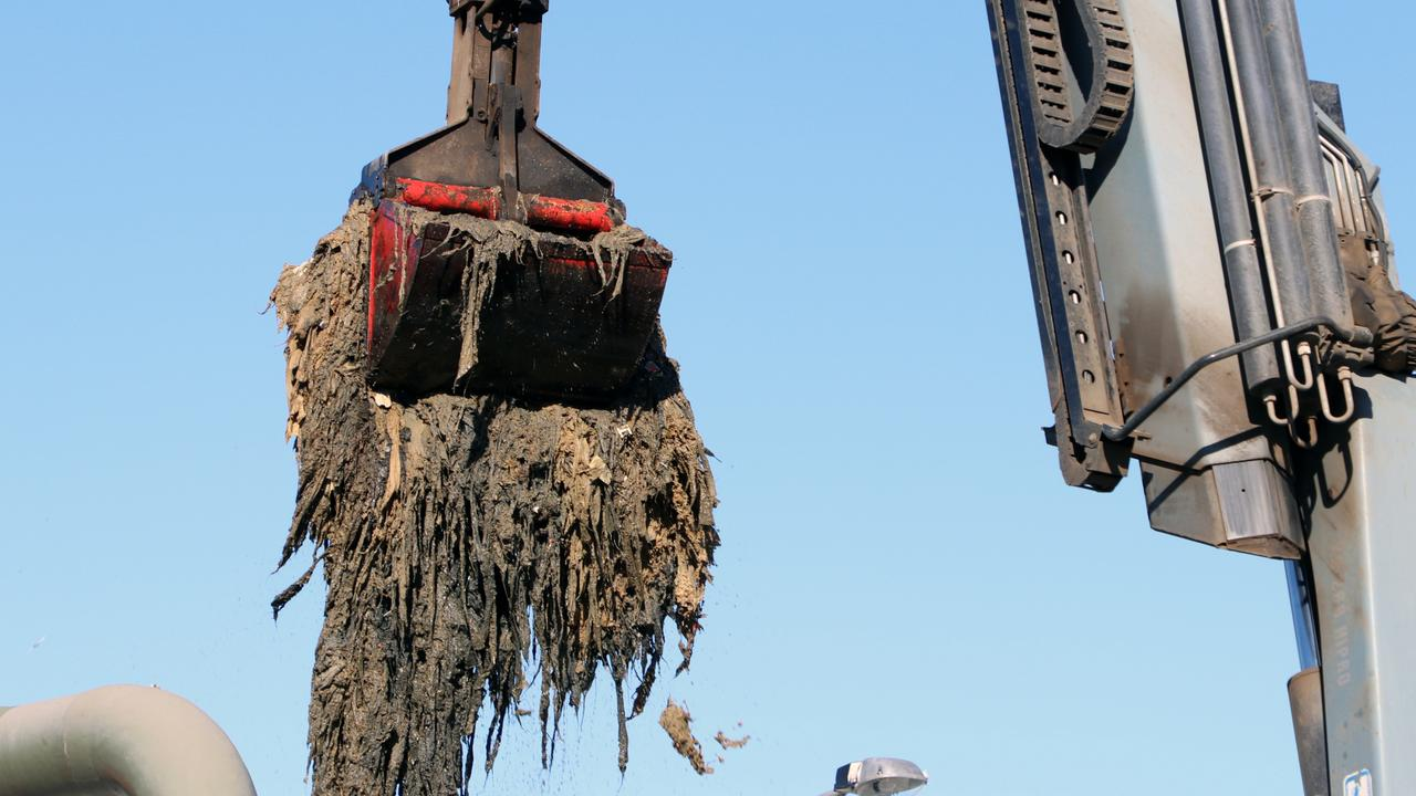 A 14-tonne fatberg removed from NSW Hunter Region's Morpeth Water Treatment Plant in 2019.