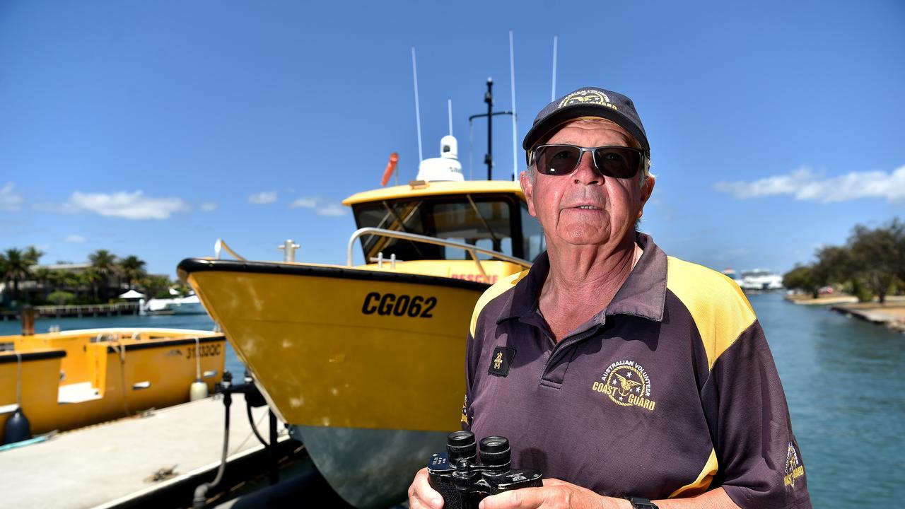 Deputy Commander Rod Ashlin from Mooloolaba Coastguard keeping people safe on the waterways.