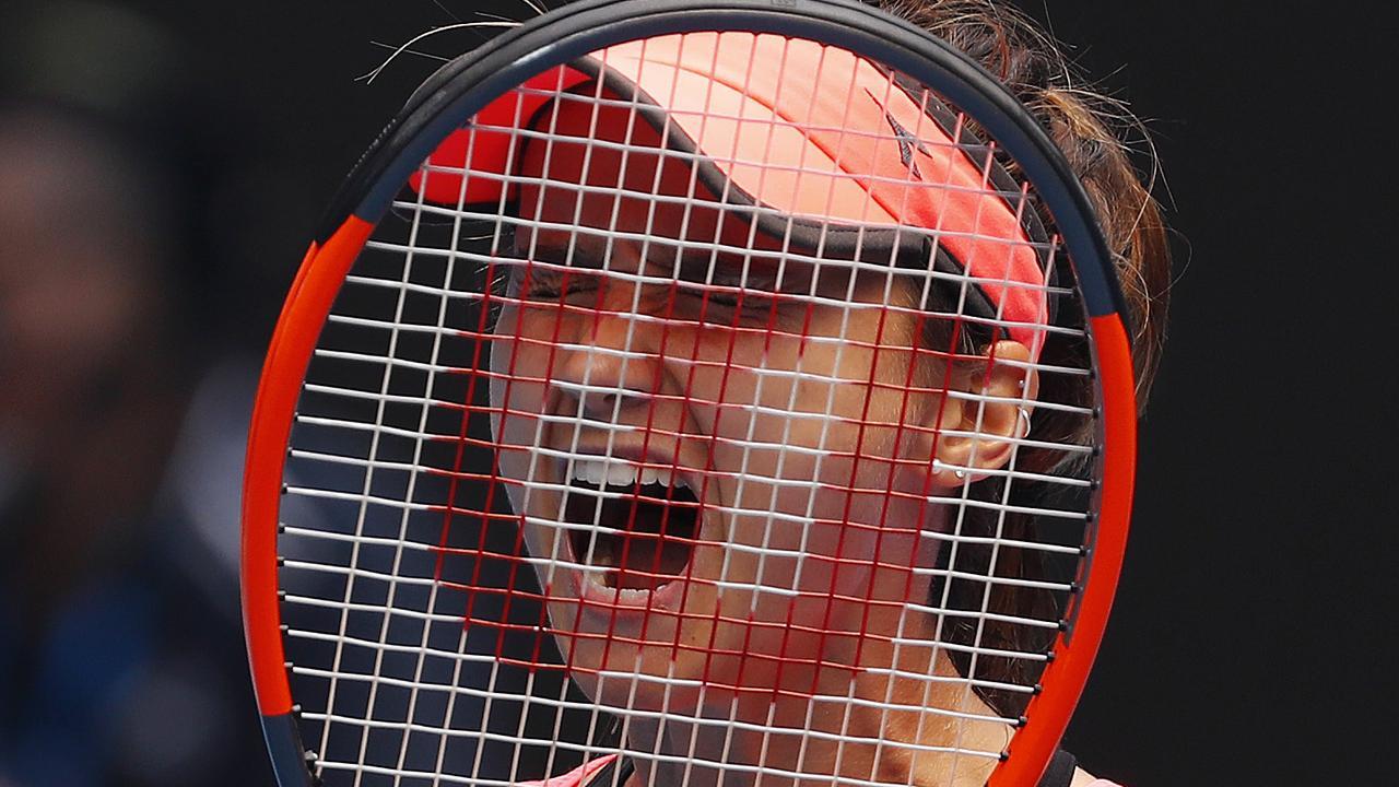 Elliott coaches Australian Open hopeful Lauren Davis. Picture: Michael Klein