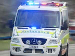 Elderly man rushed to hospital after motorbike crash