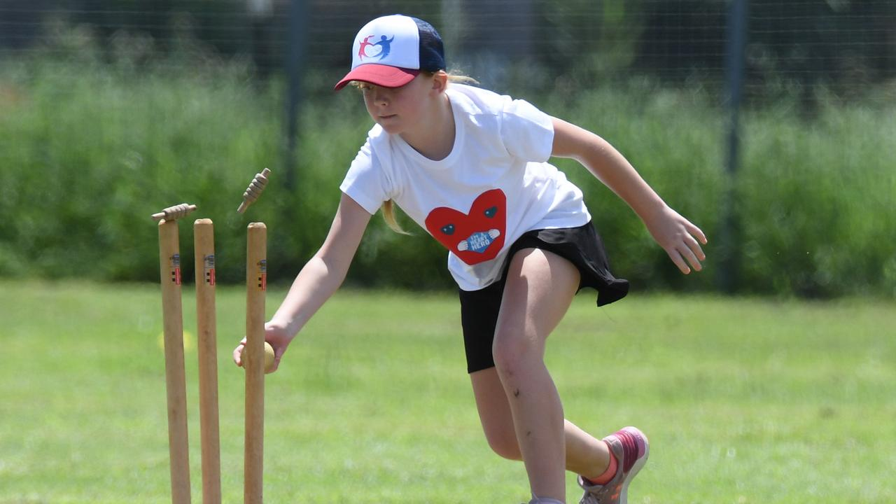 An under-14 vigoro player displays her skills during a previous HeartKids Day. The latest charity day is on Saturday at the East Ipswich grounds. Picture: Rob Williams