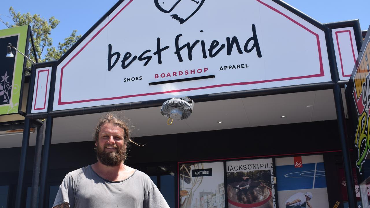 Best Friend Board Shop owner Kenny Urquhart is selling his skate shop for $85,000.