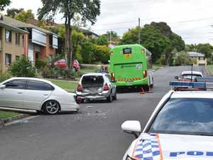 UPDATE: Bus destroys vehicles parked on suburban street