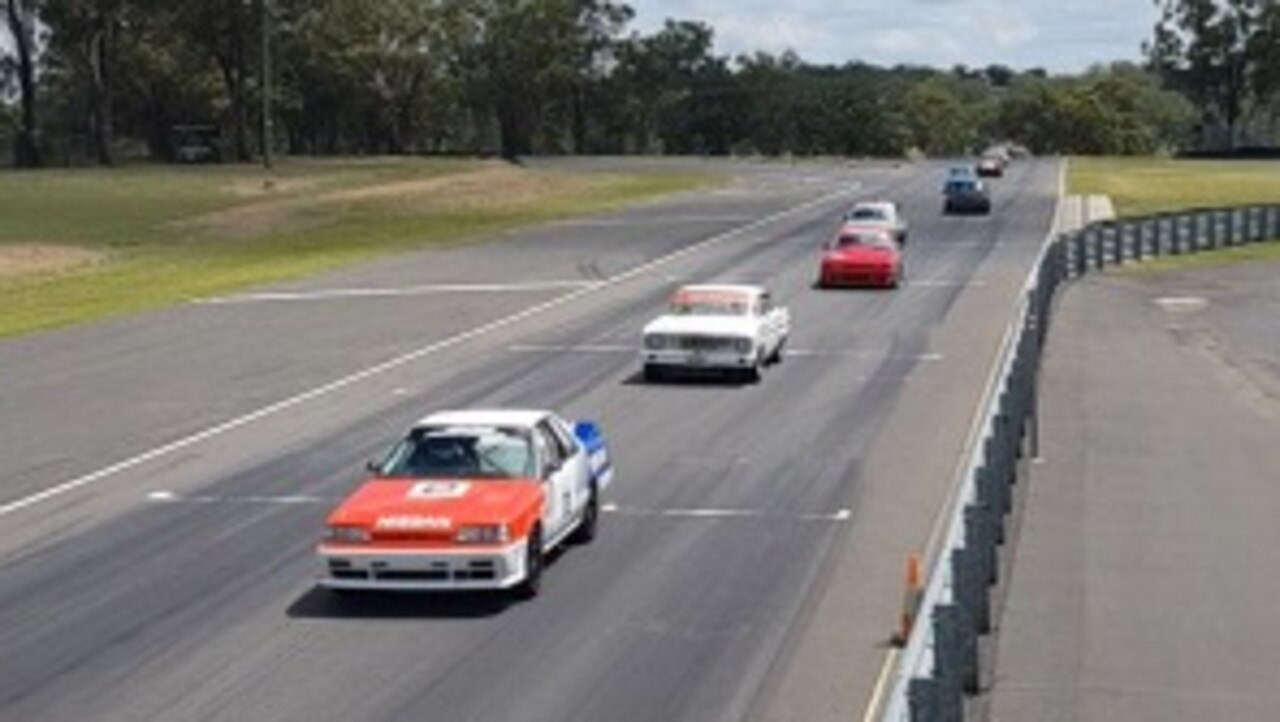 NEW START: Action shots from the first 'Historic Sports Sedans' event at in the Queensland Sprint Series A Round 1 on Sunday. Picture: Morgan Park Raceway