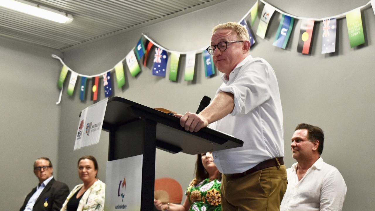 Member of the Legislative Council, Parliamentary Secretary for Energy and the Arts and member of The Nationals party Ben Franklin, at the Byron Shire 2021 Australia Day Awards.