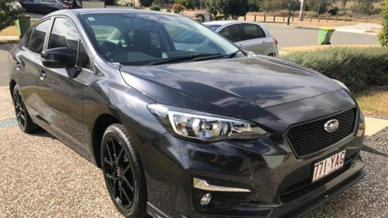 A grey Subaru Impreza was also reported stolen Monday morning.