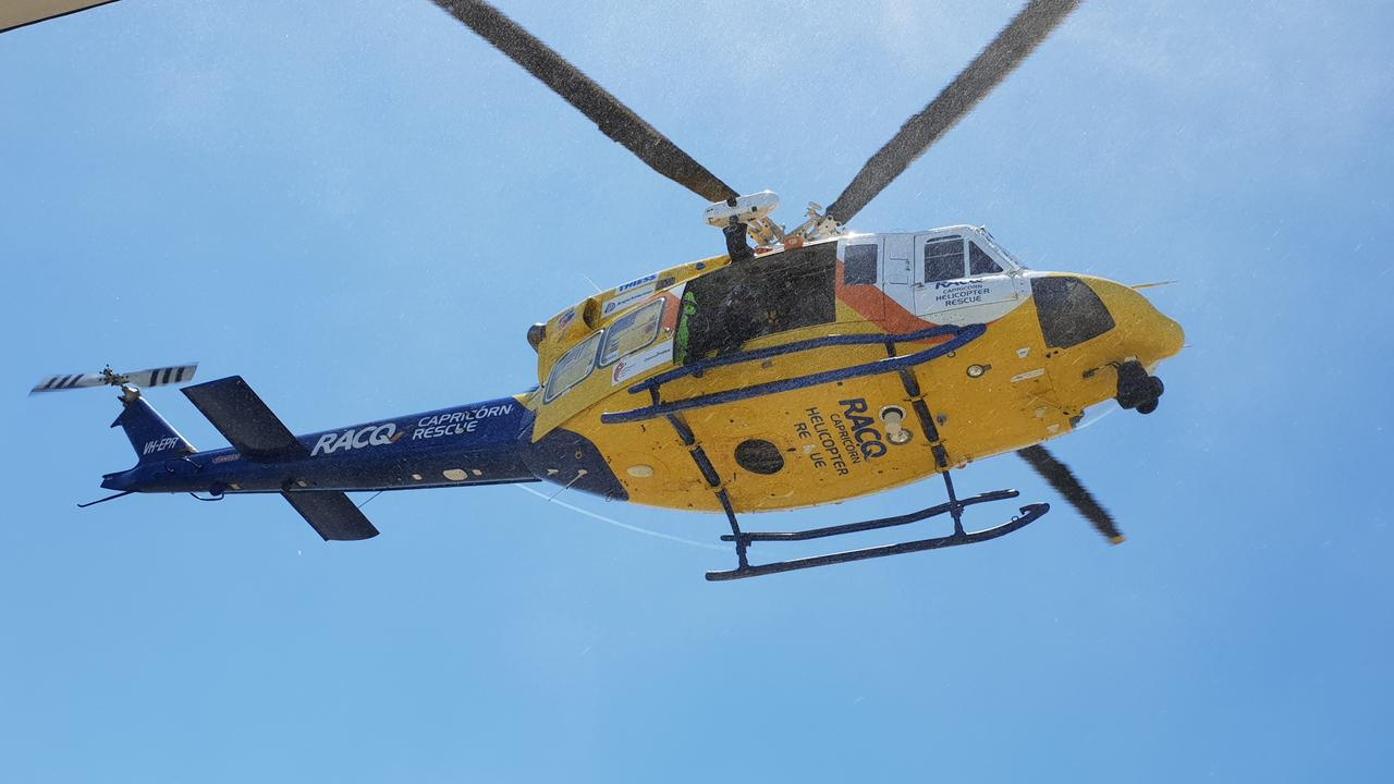 A person has been flown to Rockhampton Hospital following an alleged stabbing in Blackwater.