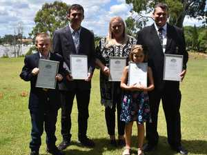 """We love it."" Family's first day as Australian citizens"
