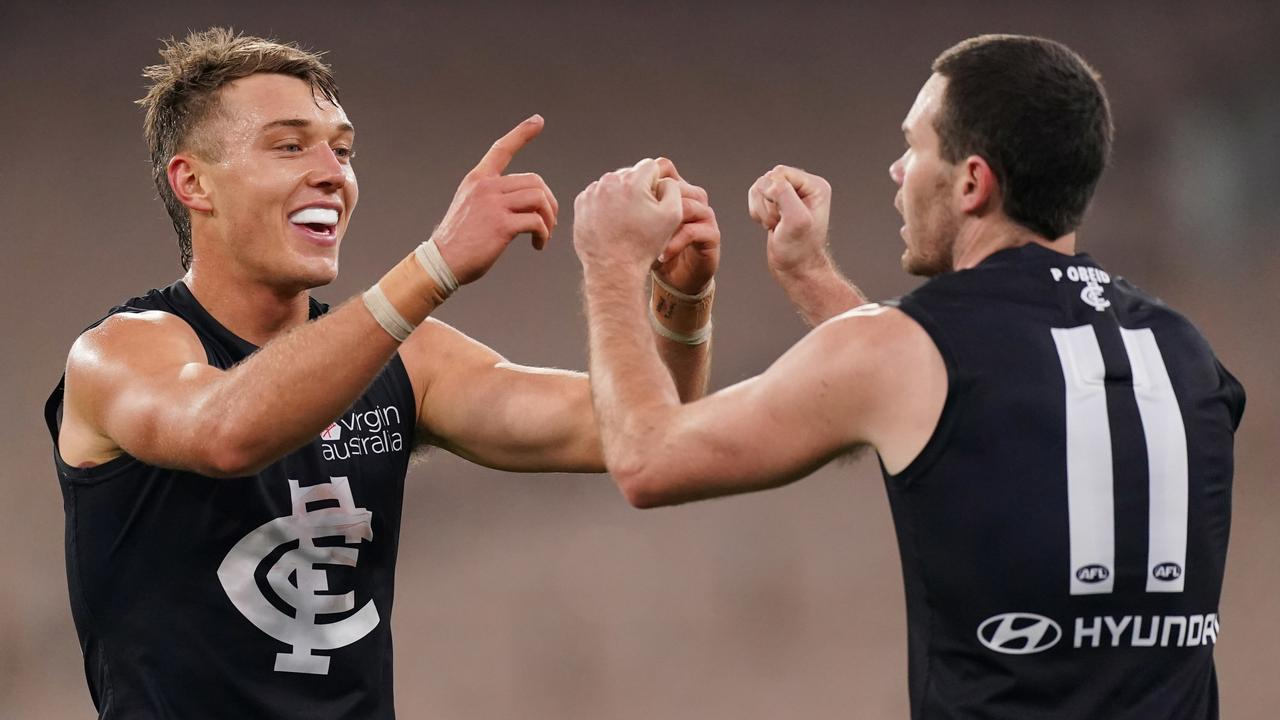 Carlton needs to figure out how best to use Patrick Cripps and Mitch McGovern this season if it is to break its finals drought. Picture: AAP Image/Michael Dodge