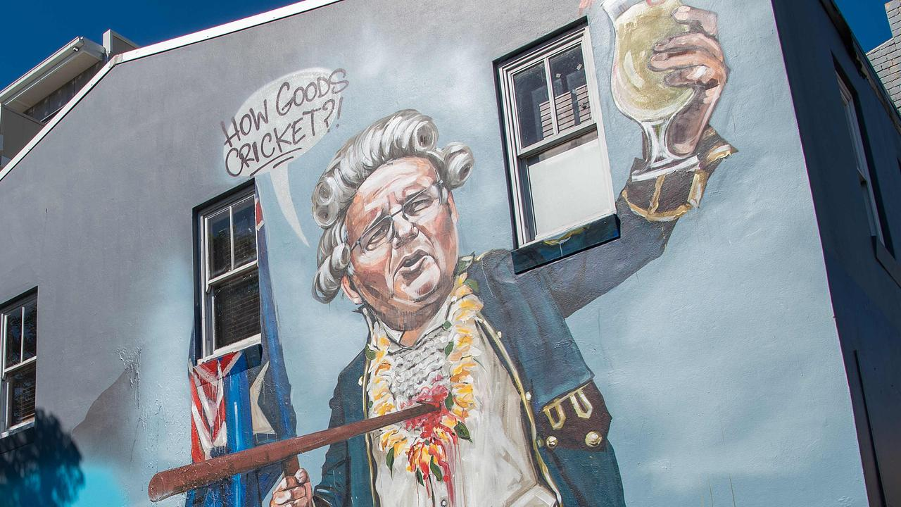 Scott Morrison features in a new street mural depicting him as Captain Cook, with its artist saying politicians need to step up when it comes to Australia Day.