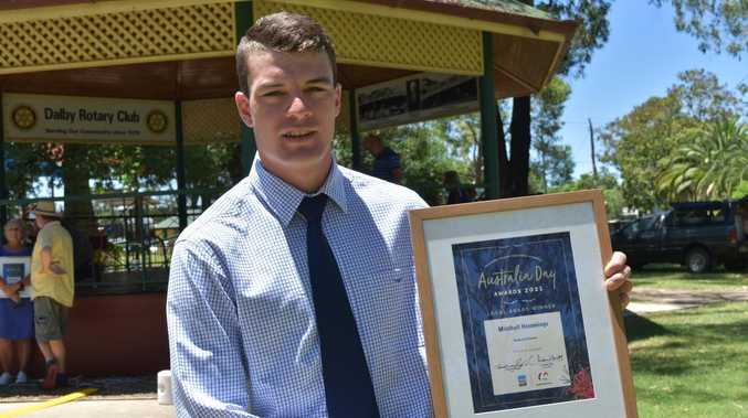 Dalby triathlete star wins coveted Australia Day sports award