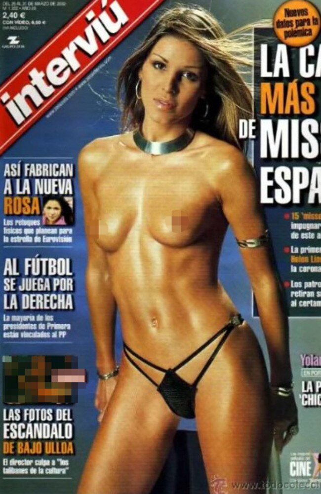 Yolanda previously posed for Spanish magazine Interviu before joining the police force. Picture: Supplied