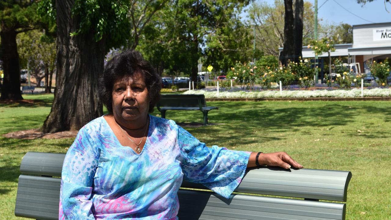 Aunty Lillian Burke in Gympie's Memorial Park
