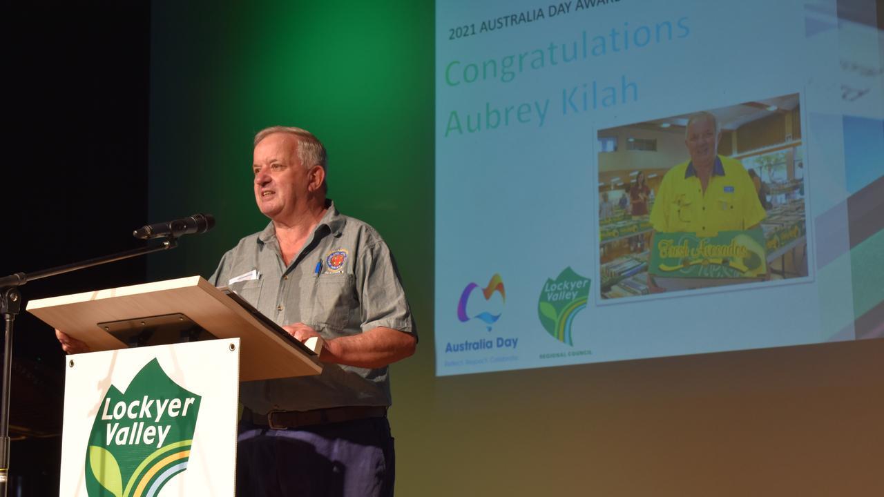 Citizen of the Year Award Recipient Aubrey Kilah. Photo: Hugh Suffell.