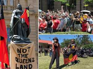 Thousands gather ahead of mass Invasion Day protest