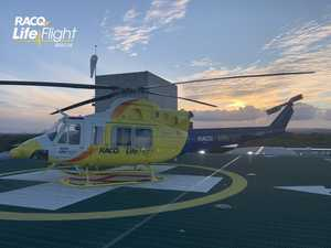 GOOD GEAR: Man airlifted after motorbike crash in national park