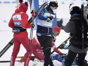 Skier attacks rival after 'going crazy'