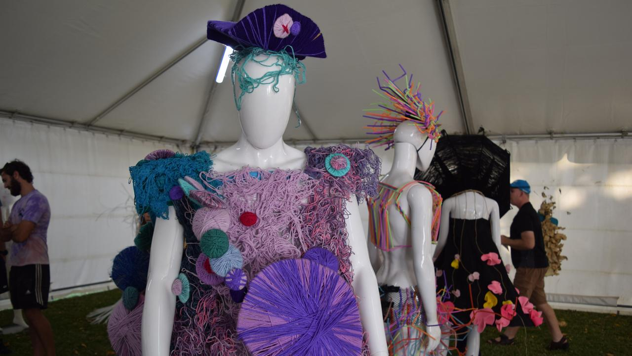 Wearable art created by students from St Catherine's Catholic College on display at the Whitsundays Arts Festival. The festival was recognised at this year's Australia Day Awards. Photo: Elyse Wurm
