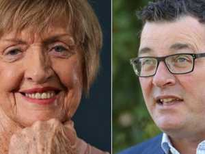 Margaret Court returns serve on Dan Andrews