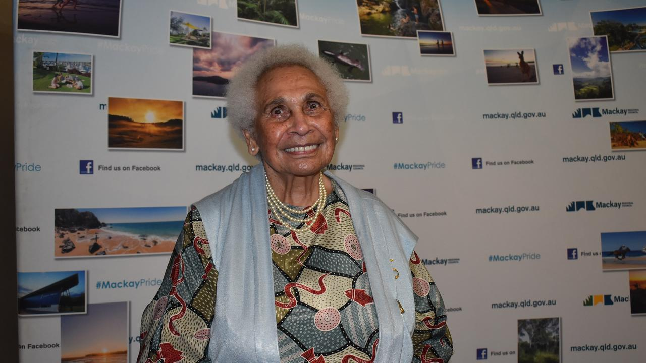 Mabel Quakawoot is the 2021 Citizen of the Year. Mackay Australia Day Awards Gala Dinner. Picture: Tara Miko